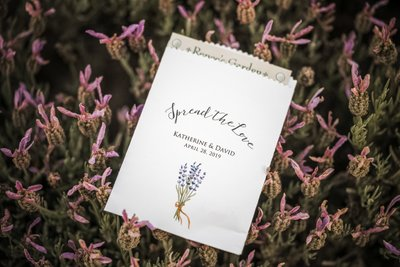 Sacramento Wedding Photographers Guest Favors