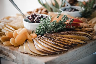 Sacramento Wedding Photographers Cheese and Fruit Board