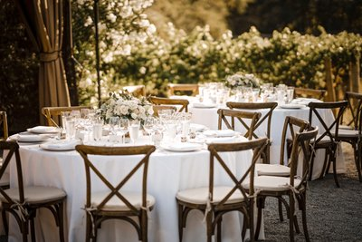 Sacramento Wedding Photographers Tables at Reception