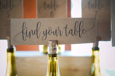 Sacramento Wedding Photographers Find Your Table Ideas