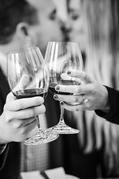 Sacramento Wedding Photographers Toasting Proposal