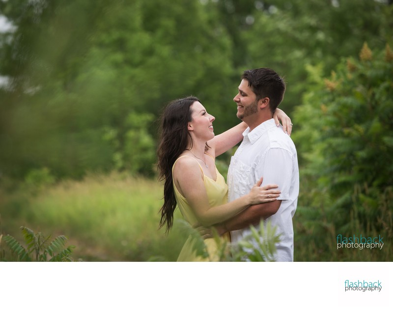 Forested Engagement Photo Session Locations in Barrie