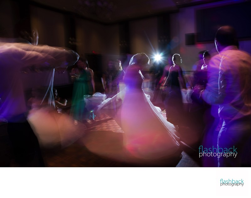 Bride on Bright Dance Floor