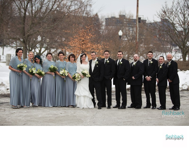 Wedding Party in Wintry City