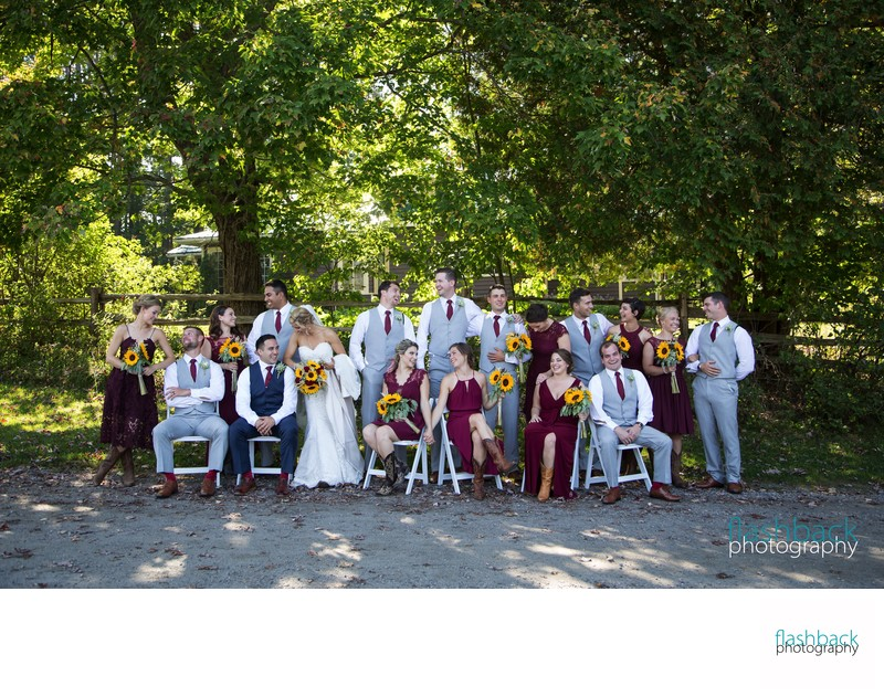 Brooklands Farm Wedding Bridal Party