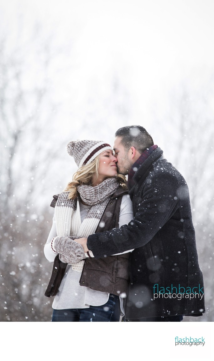 Kisses in Snowy Weather