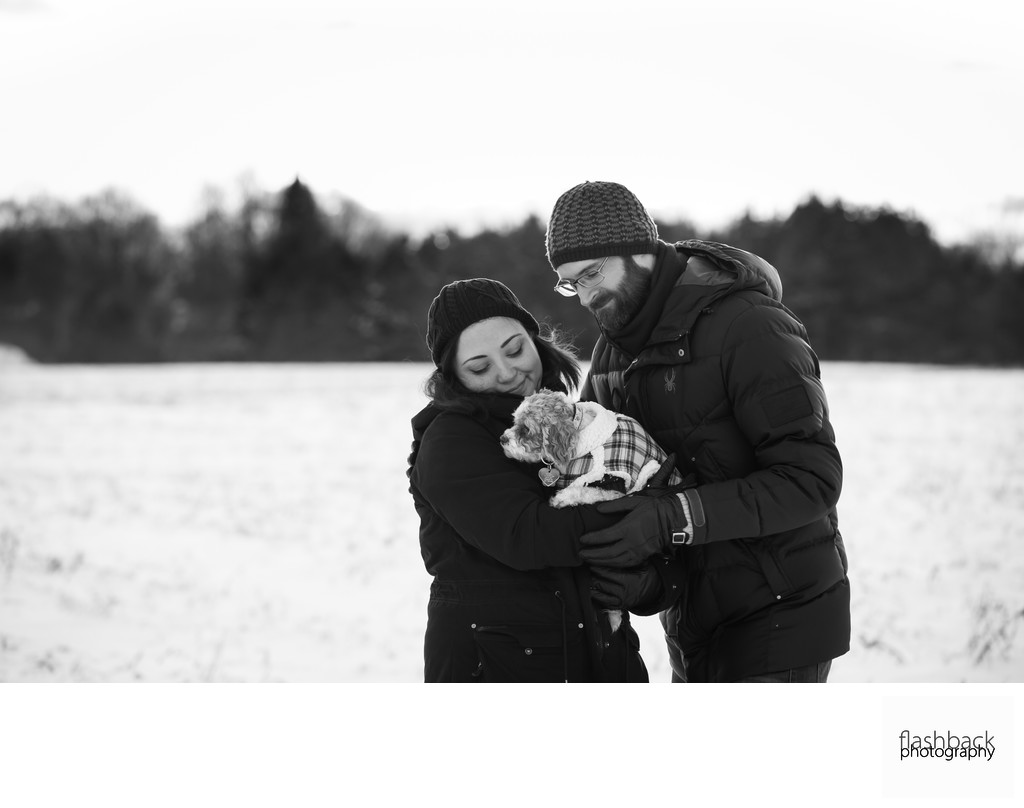 Winter Engagement Session + Pets