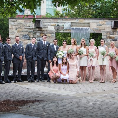Millennium Park Peterborough Bridal Party Photo Ideas