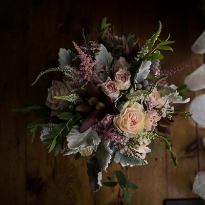 Wedding bouquet Details at Northbrook Farm