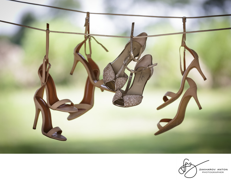 Country style des chaussures de mariage