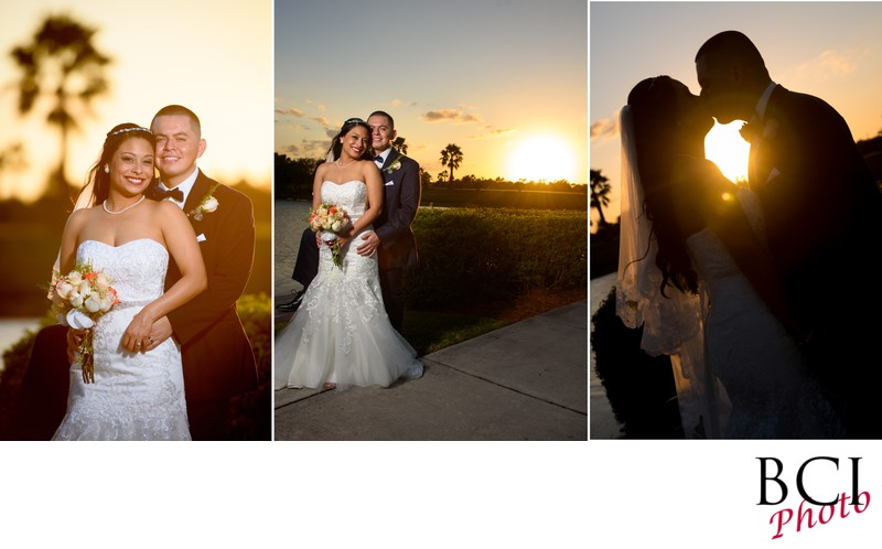 romantic sunset wedding album designs