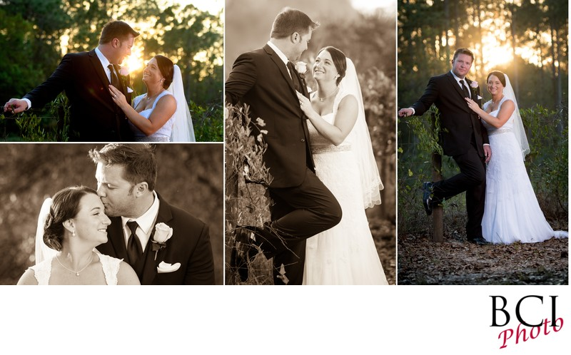 Romantic Wedding Album Page with both BW and Color