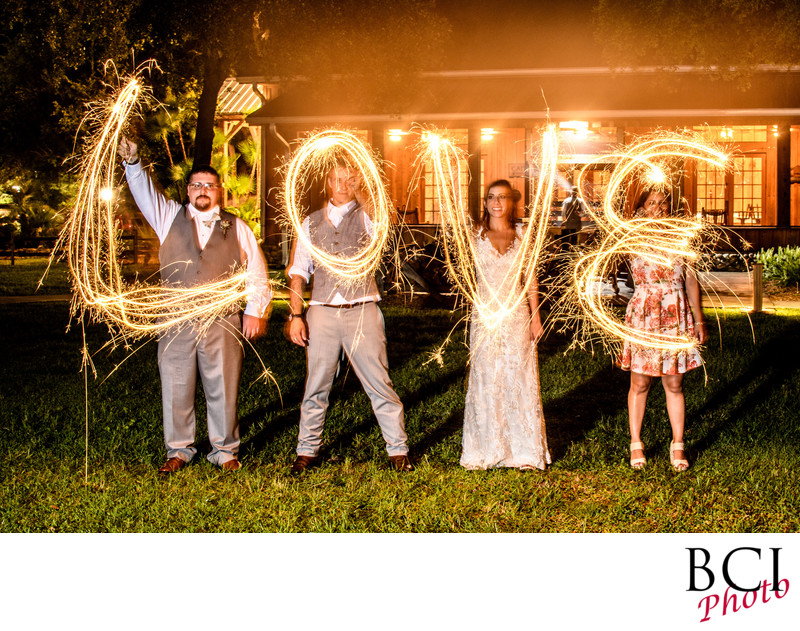Florida Wedding Images with Sparkler Exits