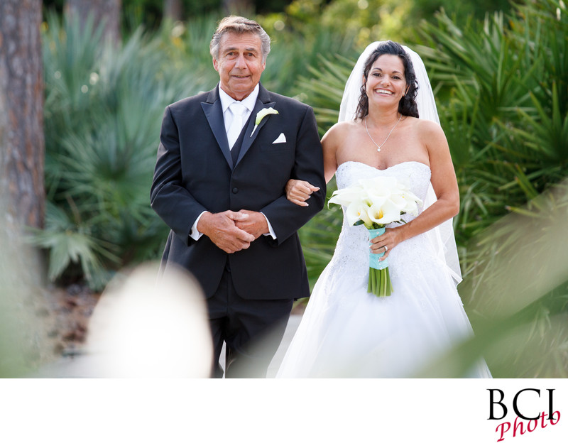 Father Daughter wedding pictures on the Treasure Coast