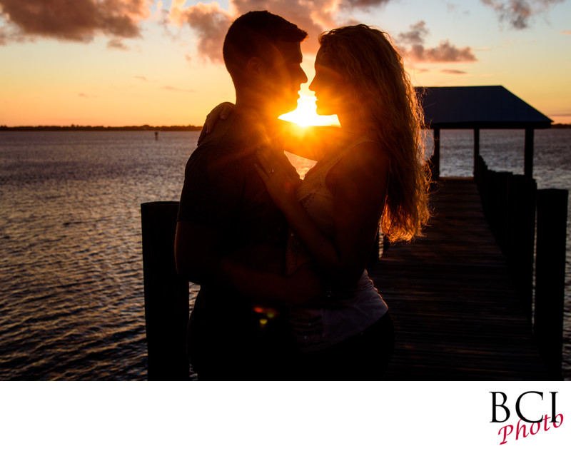 Amazing engagement session sunset at House of Refuge