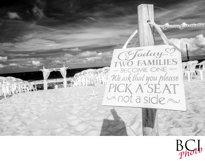 Beach Wedding Ceremony Location Photos Pinterest Signs