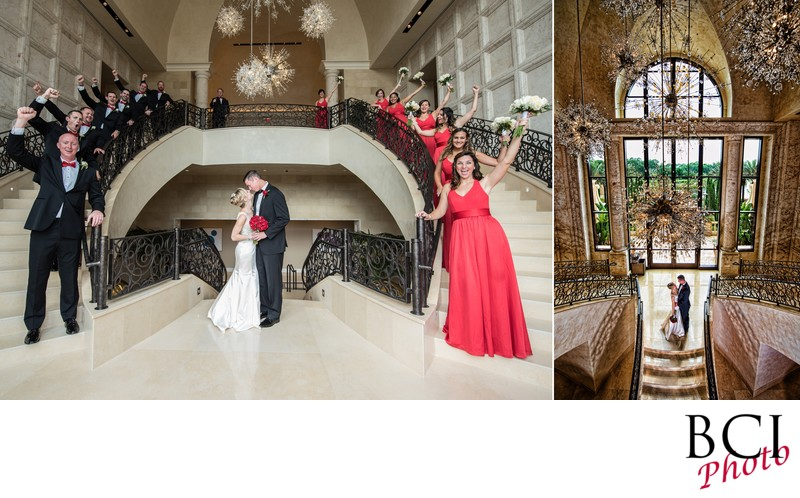 Four Seasons Disney Bridal Party. Wedding album page.