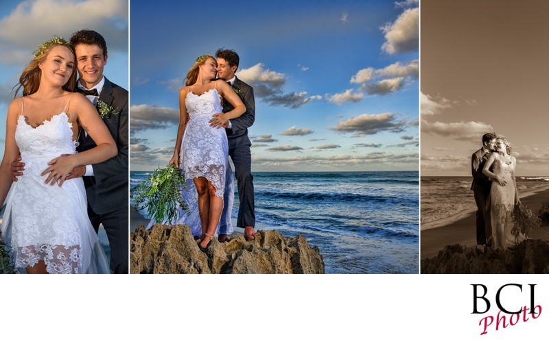Beach wedding photographers near me