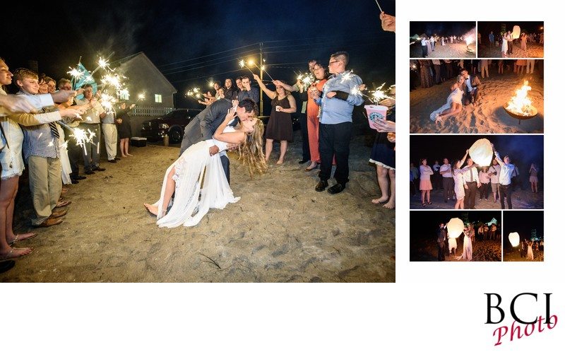 Wedding with Sparkler Exit and Huge kiss!