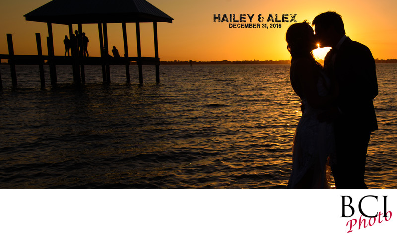 Hot Sunset Wedding Image on the Beach