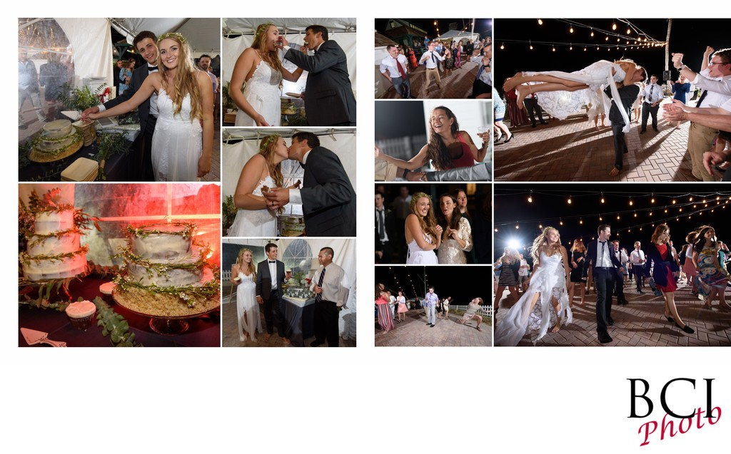 House of refuge wedding reception album design