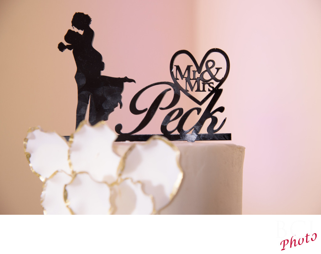 Examples of cool wedding cake topper shots