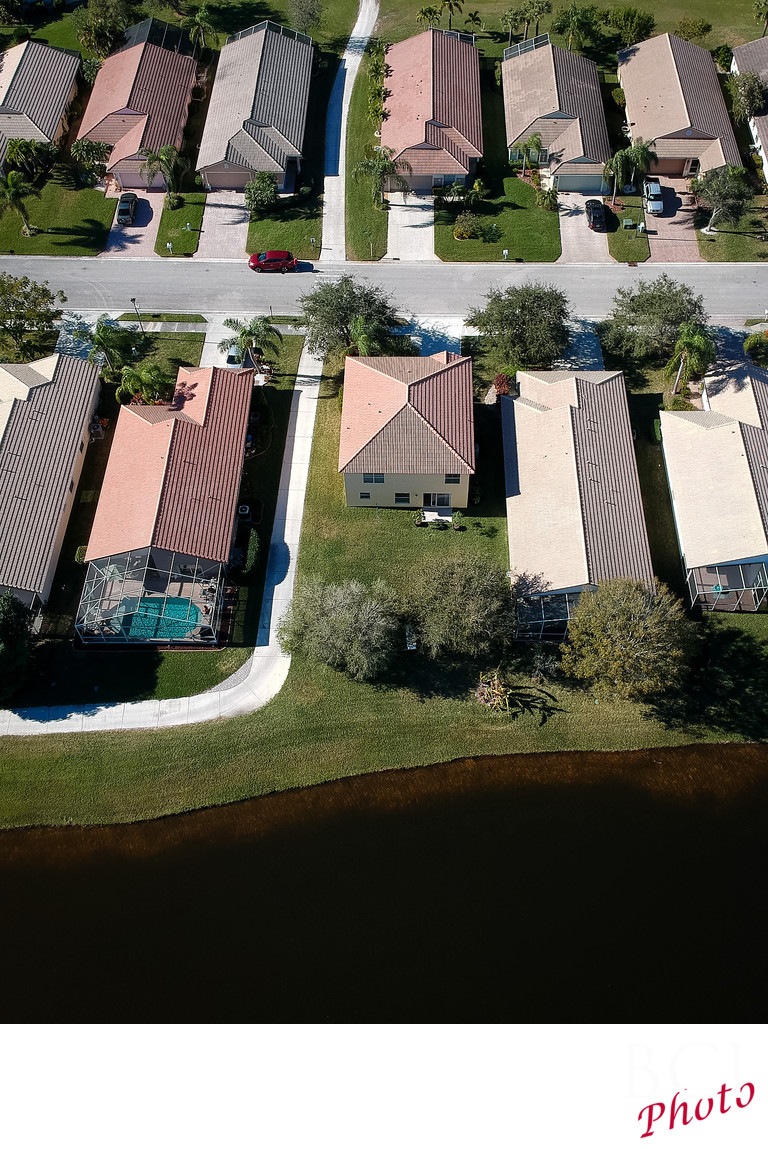 Aerial Waterfront Real Estate pictures