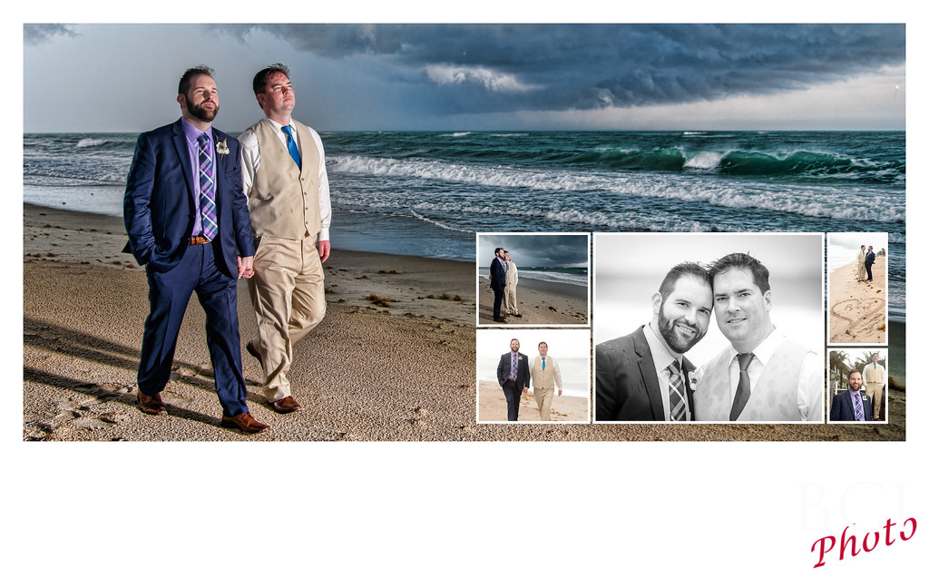 LGBT romantic wedding images on the beach in Florida