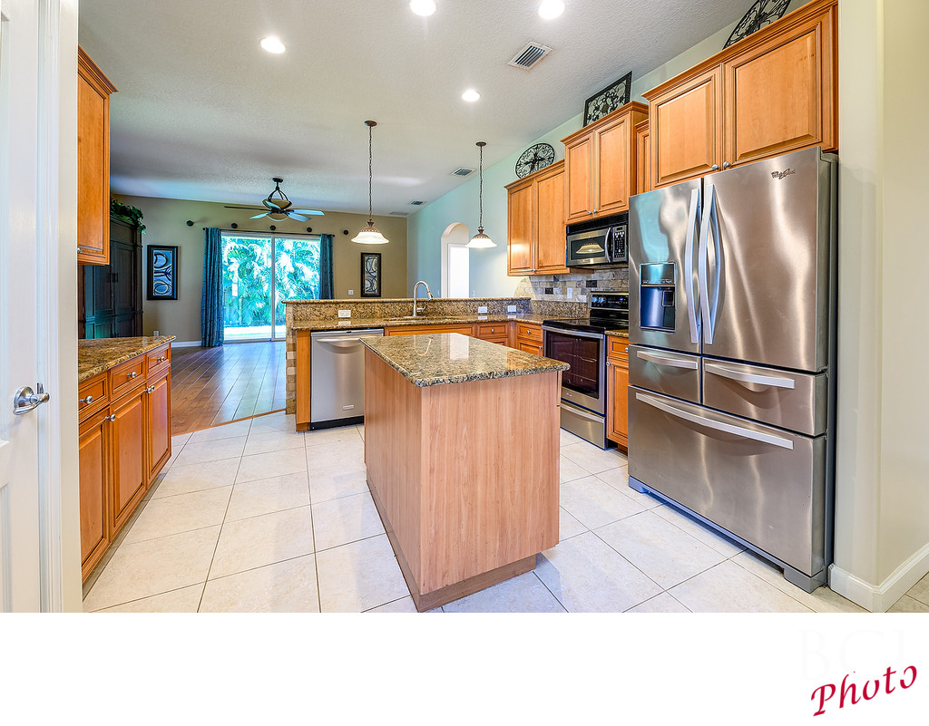 Kitchen view for real estate marketing purposes