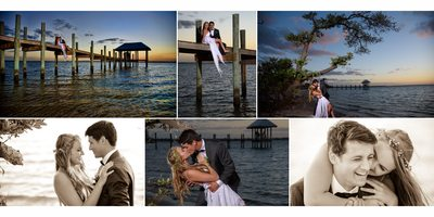 Romantic Wedding Portraits wedding album page design