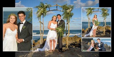 bridal portraits on the beach