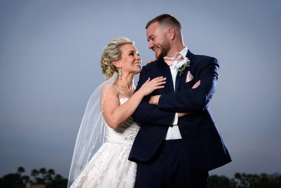Bride and Groom romantic portrait at Willoughby