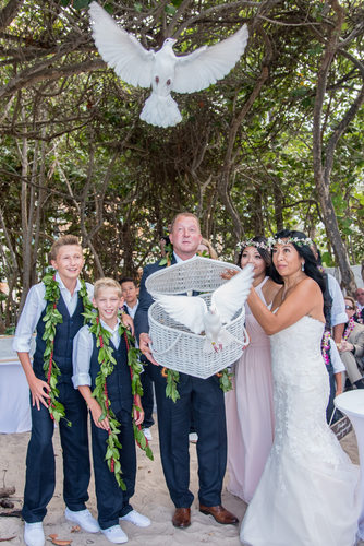 Wedding Dove Release from Jupiter Beach Resort