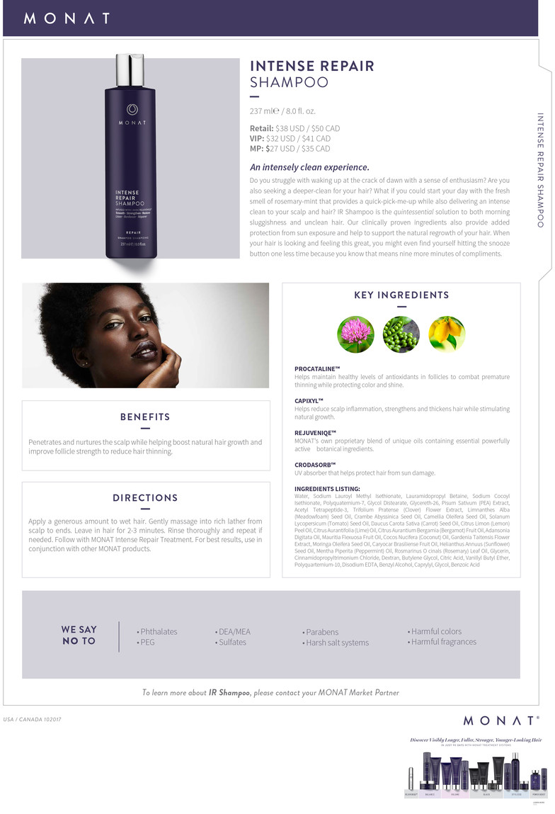 Infosheet_Intense Repair Shampoo_102017