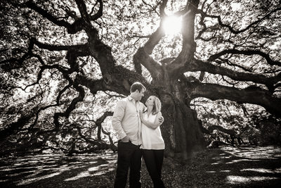 Angel Oak Engagement Photo