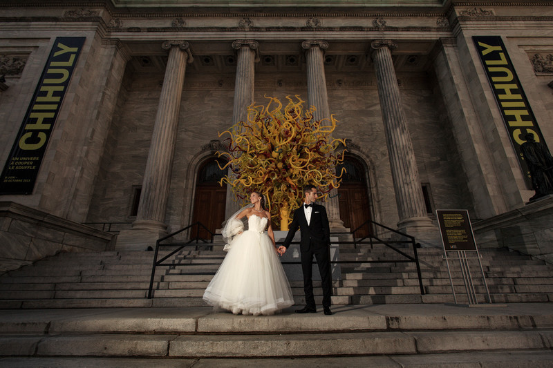 Wedding Photography at the Montreal Museum of Fine Arts