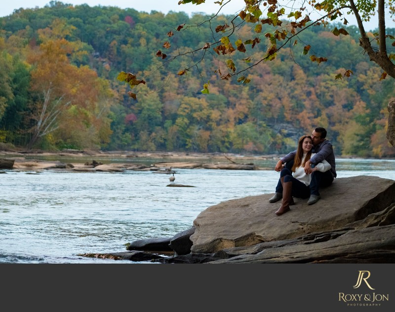 Chattahoochee River engagement photos