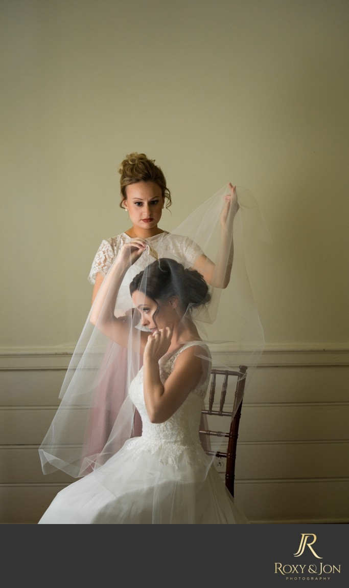 Atlanta wedding veil photo