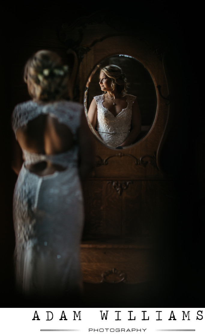 Mighty Oak Lodge Bridal Photos