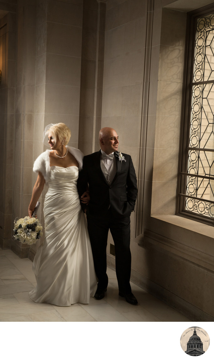 city-hall-winter-wedding-groom-bride