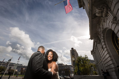 black couple san francisco city hall wedding
