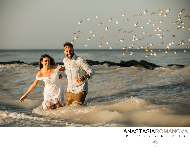 New Jersey Beach Engagement Photographer
