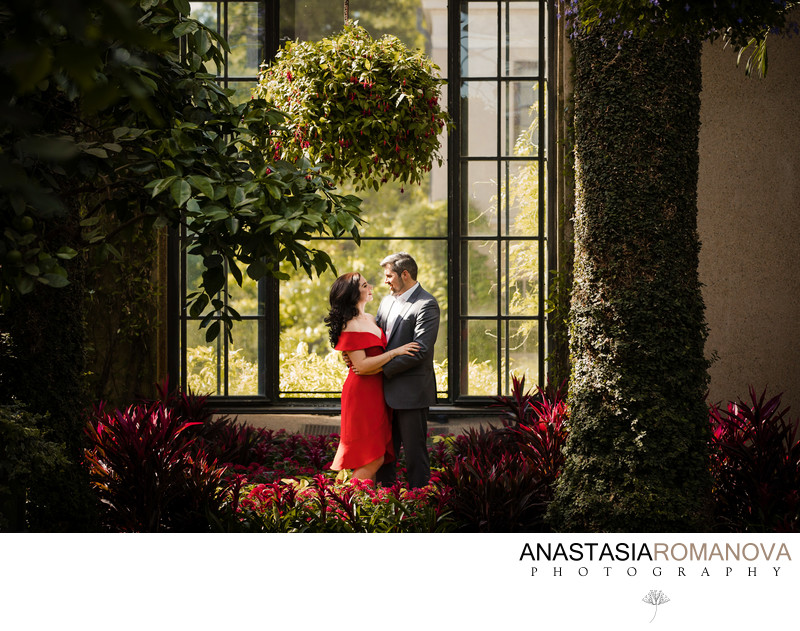 Longwood Gardens Engagement and Wedding Photography