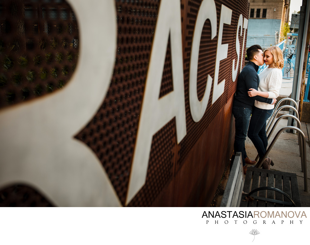 Race Street Pier Philadelphia Engagement Photographer