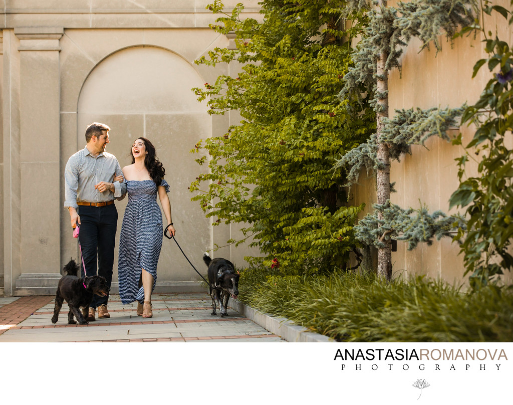 Longwood Gardens Best Engagement Photos with Dogs