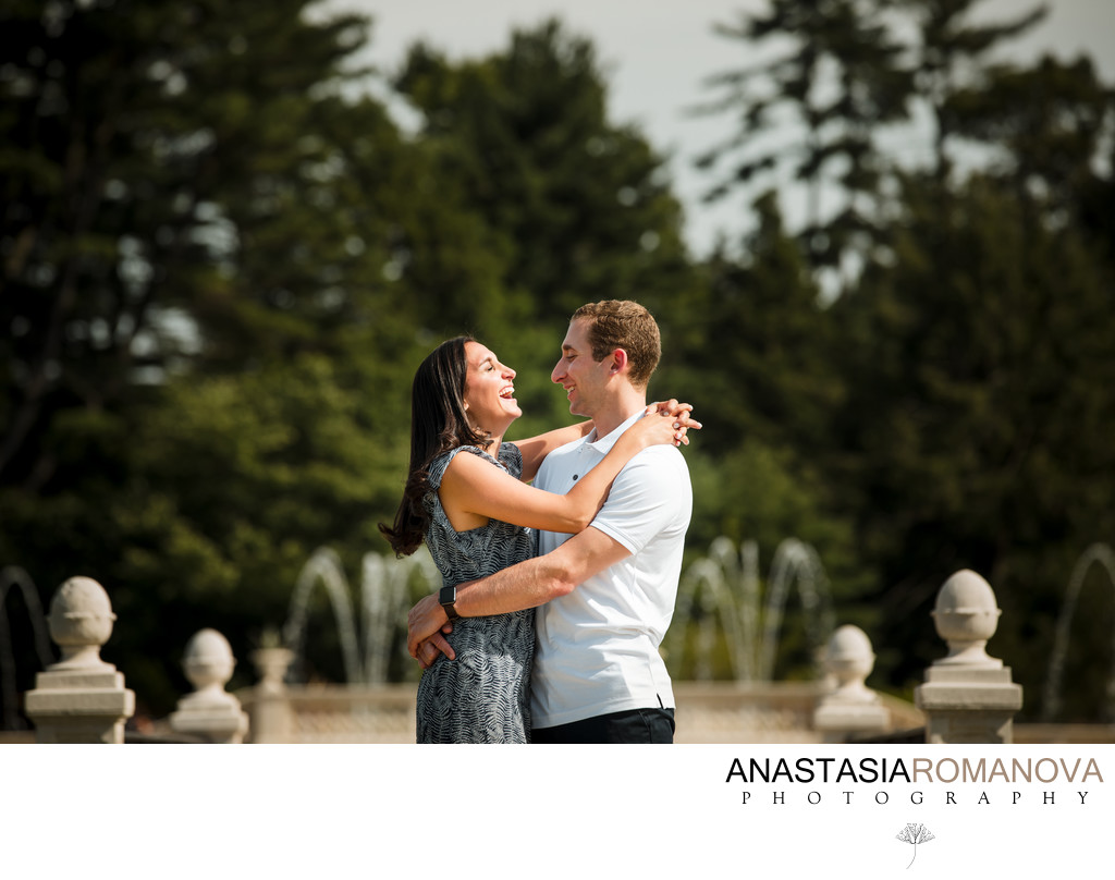 Longwood Gardens Engagement Session Photos