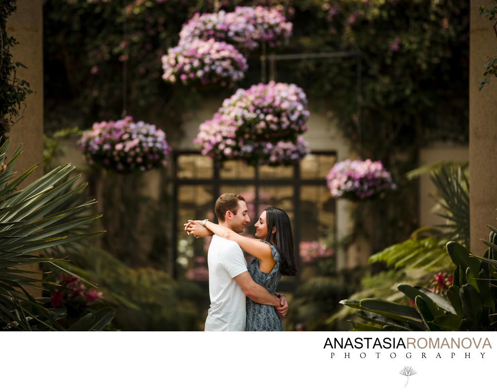 Longwood Gardens Best Engagement Photographer