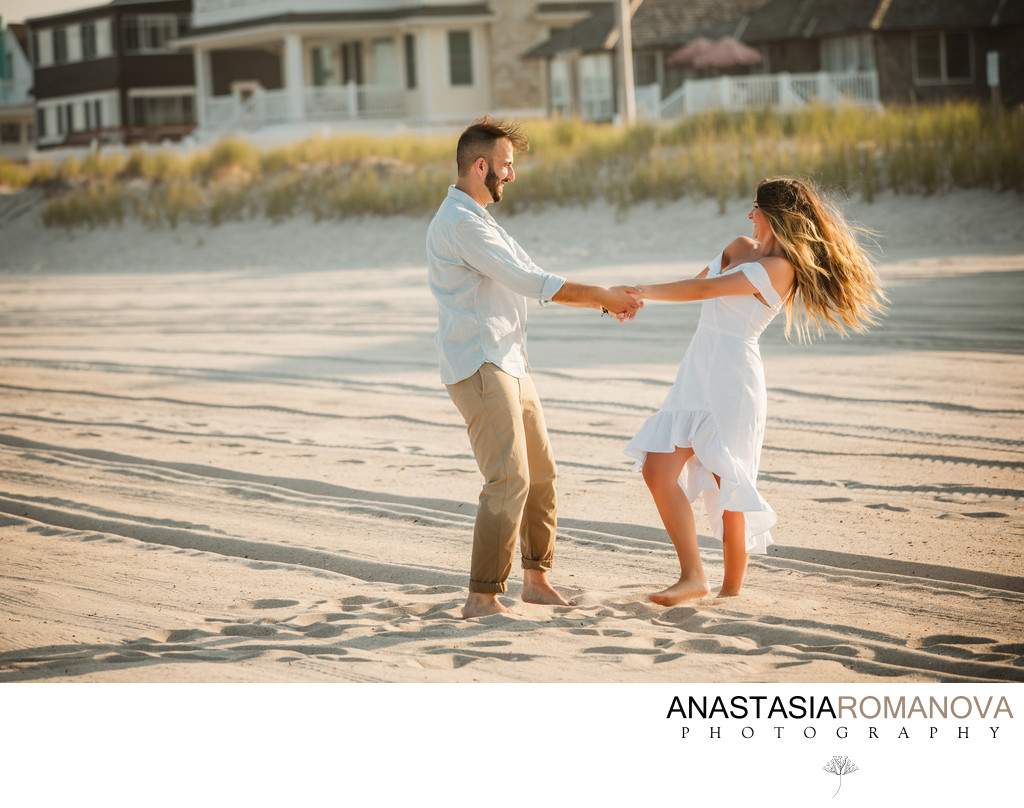 New Jersey Beach Engagement Session Photos