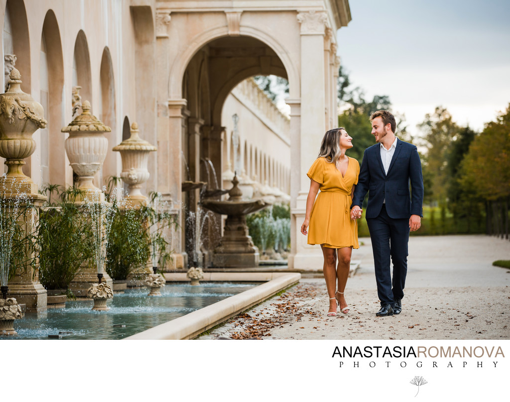 Longwood Gardens Best Engagement Photographers