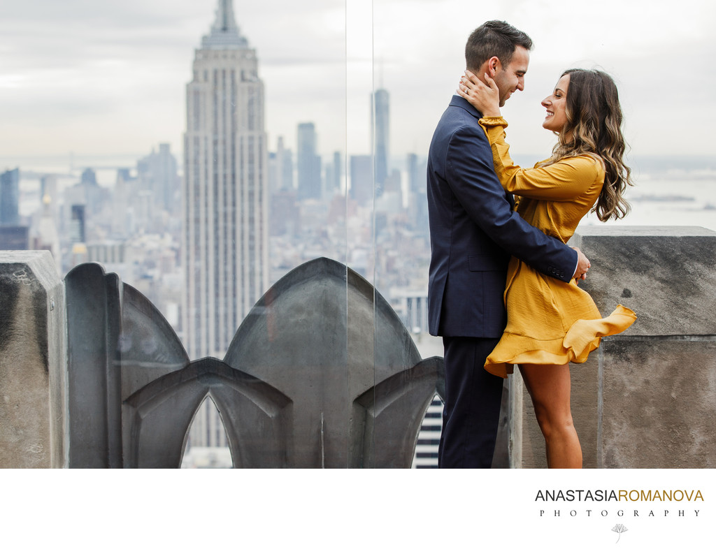 Top Of The Rock NYC Engagement Photos